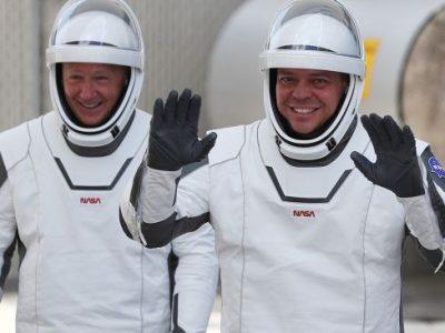 Bob Behnken and Doug Hurley (Image credit: Joe Raedle - Getty)