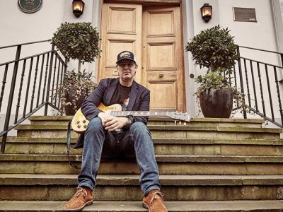 Joe Bonamassa outside Abbey Road studios (Image credit: James Sharrock)