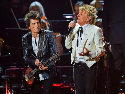 Ronnie Wood and Rod Stewart of The Faces. CREDIT: Dave J Hogan/Getty Images.
